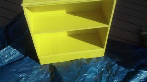 Old Yellow bookcase